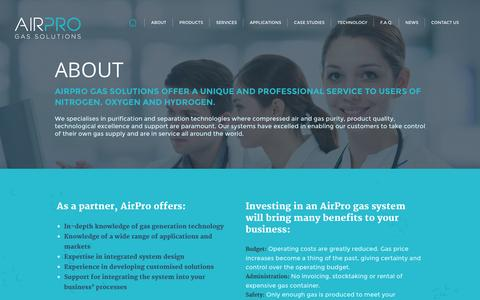 Screenshot of About Page airpro.ie - Air Pro - captured Sept. 30, 2014