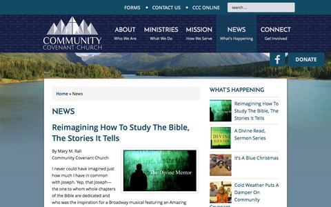 Screenshot of Press Page communitycovenant.net - News — Community Covenant Church - captured Jan. 30, 2016