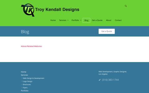 Screenshot of Blog troykendall.com - Blog   | Troy Kendall Designs - captured Nov. 5, 2014