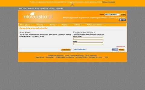 Screenshot of Login Page otogastro.pl - Login klienta - captured Oct. 21, 2018