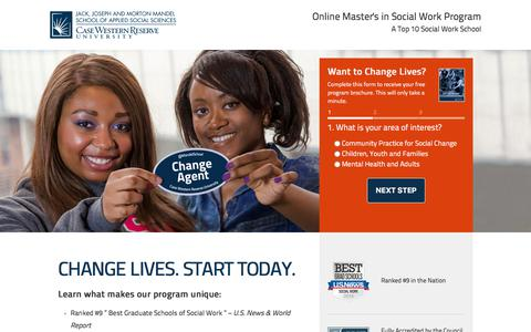 Screenshot of Landing Page case.edu - msw-short-lp2 resp | Online Social Work Degree  - Case Western Reserve University - captured Sept. 7, 2017