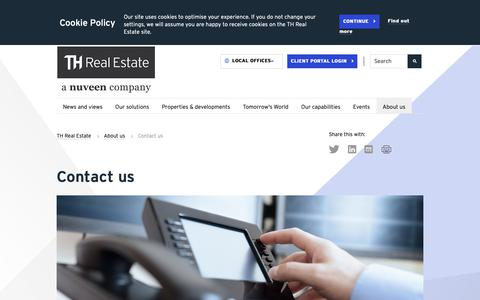 Screenshot of Contact Page threalestate.com - Contact us - captured Oct. 18, 2018