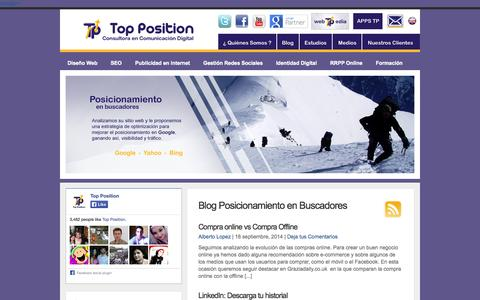Screenshot of Blog posicionamientoenbuscadoreswebseo.es - Blog - SEO - Posicionamiento en buscadores - captured Sept. 19, 2014