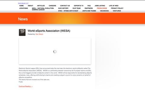 PRESS ROOM «  World eSports, LLC