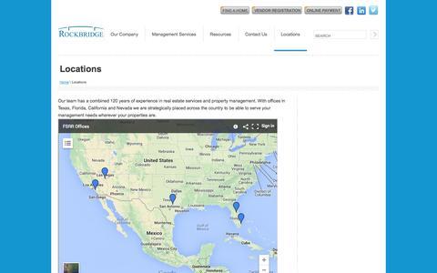 Screenshot of Locations Page fsrr.com - Locations - captured Oct. 3, 2014