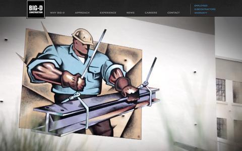Screenshot of Home Page big-d.com - Big-D Construction Corp. - captured Feb. 7, 2016