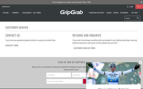 Screenshot of Support Page gripgrab.com - GripGrab Customer Service - captured Dec. 16, 2018