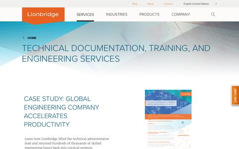 Technical Documentation, Training, and Engineering Services