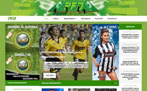 Screenshot of Home Page porfindeportes.com - Bienvenidos al Portal Por Fin Deportes. - captured Jan. 19, 2016