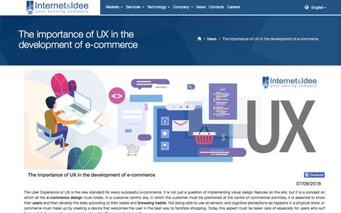 Screenshot of Press Page internet-idee.net - The importance of UX in the development of e-commerce - captured Sept. 19, 2018