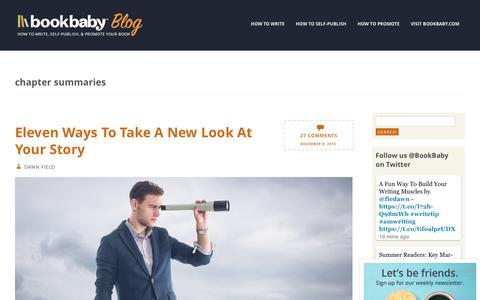 Screenshot of Blog bookbaby.com - chapter summaries | BookBaby Blog - captured Feb. 27, 2017