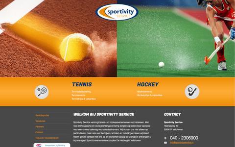 Screenshot of Home Page sportivityservice.nl - De specialist op het gebied van tennis events jeugdkampen en business events - captured Oct. 7, 2014