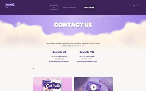 Screenshot of Contact Page cushelle.com - Cushelle - Contact Cushelle UK & Ireland - captured July 2, 2016