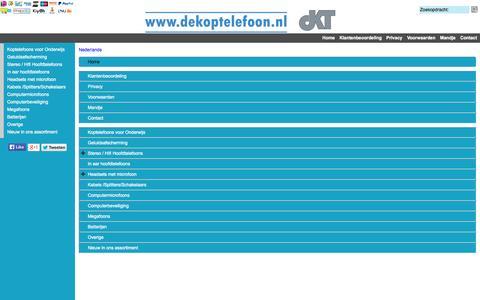 Screenshot of Site Map Page Menu Page dekoptelefoon.nl - Map - captured Oct. 23, 2014