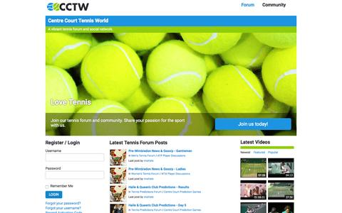Screenshot of Home Page cctennisworld.com - Home - Centre Court Tennis World - captured June 20, 2015