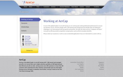 Screenshot of Jobs Page aercap.com - Working at AerCap — AerCap - captured Oct. 2, 2014