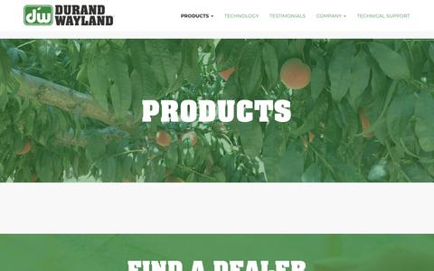Screenshot of Products Page durand-wayland.com - Products | Durand-Wayland - captured Oct. 9, 2018