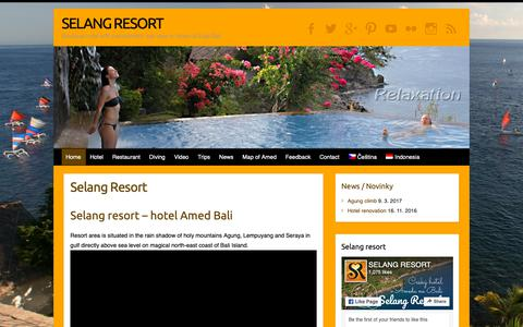 Screenshot of Home Page selangresort.com - Selang Resort - Hotel Amed Bali with best sea view - captured Oct. 24, 2018