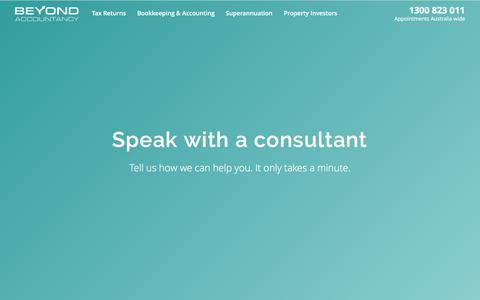 Screenshot of Contact Page beyondaccountancy.com.au - Contact   Beyond Accountancy - captured June 1, 2017