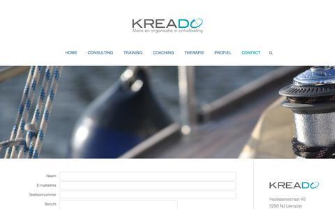 Screenshot of Contact Page kreado.nl - contact - captured Oct. 16, 2018