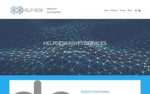 Screenshot of Services Page helpdeskegypt.com - Services   HelpDesk Egypt - captured Nov. 4, 2018