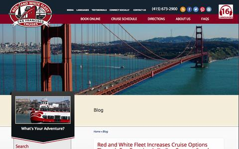 Screenshot of Blog redandwhite.com - Red and White Fleet Cruises - captured Oct. 9, 2014