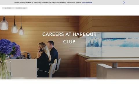Screenshot of Jobs Page harbourclub.com - Careers | Luxury Health & Fitness Clubs | London | Harbour Club - captured Jan. 25, 2016