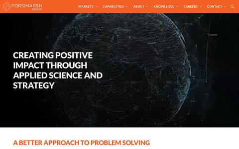 Screenshot of Home Page forsmarshgroup.com - Research Strategy Social Impact | Fors Marsh Group - captured May 18, 2018