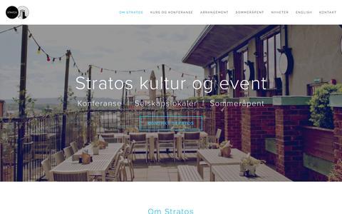Screenshot of Home Page stratos.as - Stratos konferanse og selskapslokaler - captured Dec. 2, 2016