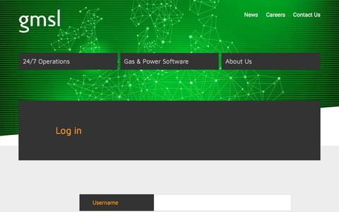 Screenshot of Login Page gmsl.co.uk - GMSL - Log in - captured Oct. 20, 2017