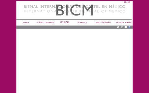 Screenshot of Home Page bienalcartel.org.mx - Bienal Internacional del Cartel en México - captured June 20, 2015