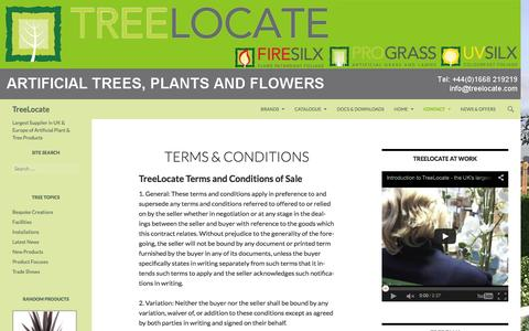 Screenshot of Terms Page treelocate.com - TreeLocate - Terms and Conditions of sale - captured Feb. 24, 2016