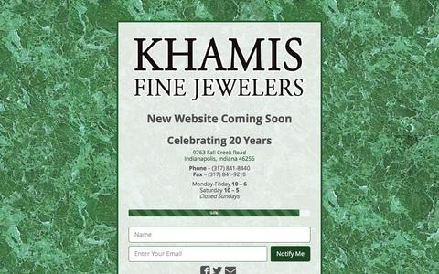 Screenshot of Home Page khamisfinejewelers.com - Khamis Fine Jewelers - captured Jan. 9, 2016
