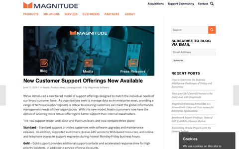 Screenshot of Support Page magnitude.com - New Customer Support Offerings Now Available - Magnitude - captured Oct. 3, 2019