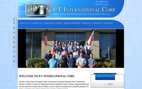 Screenshot of Home Page ptintl.com - P.T. International Corp Home Page | PT International Corp - captured Oct. 2, 2016