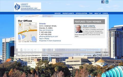 Screenshot of Locations Page libertyum.com captured Oct. 2, 2014