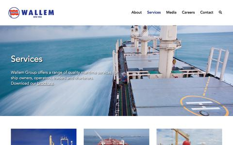 Screenshot of Services Page wallem.com - Services – Wallem - captured Nov. 5, 2017