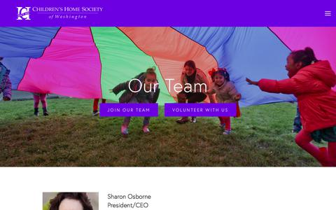 Screenshot of Team Page childrenshomesociety.org - Our Team — Children's Home Society of Washington - captured July 29, 2017