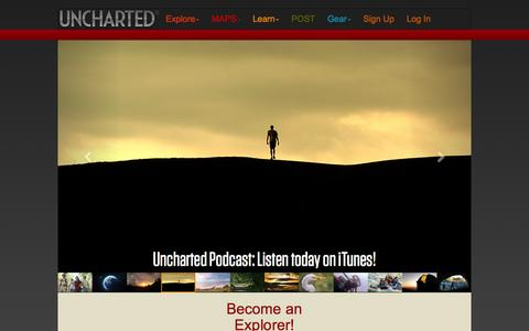 Screenshot of Home Page Signup Page uncharted.net - Uncharted - captured July 21, 2016