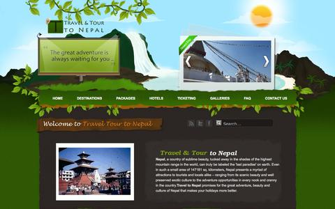 Screenshot of Contact Page travelandtourtonepal.com - Travel to Nepal - Contact us: Travel to Nepal - Trekking, Hotel Booking, Mountain Climbing - captured Oct. 7, 2014
