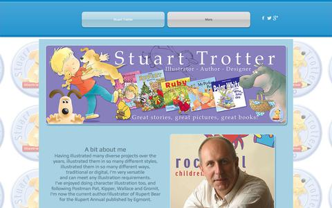 Screenshot of Home Page stuarttrotterillustration.co.uk - Stuart Trotter Illustration - captured Nov. 10, 2017