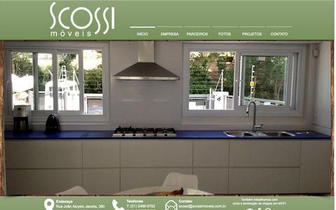 Screenshot of Home Page scossimoveis.com.br - Scossi Móveis - captured Oct. 6, 2014
