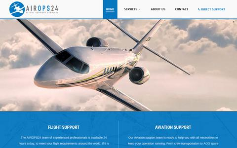 Screenshot of Home Page airops24.com - Home - captured July 28, 2018