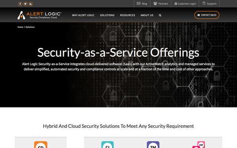 Security-as-a-Service - Cloud Security Solutions   Alert Logic