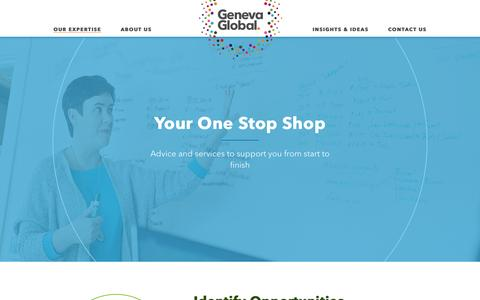 Screenshot of Services Page genevaglobal.com - ​Philanthropic Advice | Philanthropy Services | Geneva Global - captured May 26, 2016
