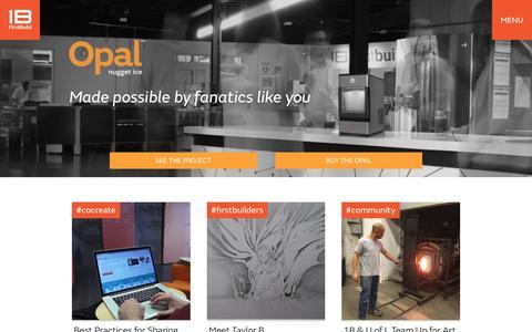 Screenshot of Home Page firstbuild.com - FirstBuild »A place where ideas come to life - captured April 8, 2016