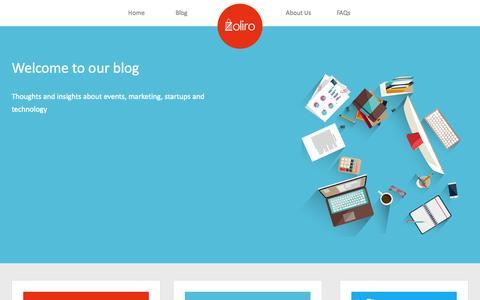 Screenshot of Blog zoliro.com - Zoliro | The Blog - captured Oct. 29, 2014