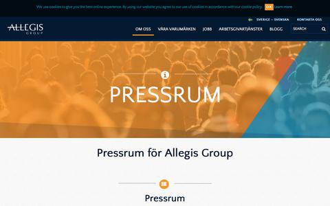 Screenshot of Press Page allegisgroup.com - Pressrum - captured Oct. 4, 2017