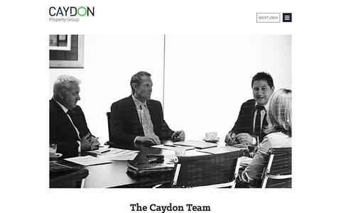 Screenshot of Team Page caydon.com.au - The Team - Melbourne Property Development, Investment - Caydon - captured Jan. 27, 2016