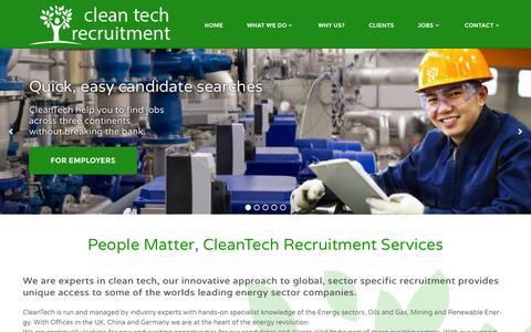 Screenshot of Login Page cleantechjobs.co.uk - cleantech | Job Search - captured Oct. 2, 2014
